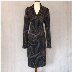 DKNY Pattern Faux Wrap Dress